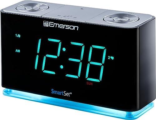 Emerson SmartSet Alarm Clock Radio and Bluetooth Speaker