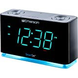 Emerson SmartSet Alarm Clock Radio with Bluetooth Speaker, Charging Station/Phone Chargers with USB port for iPhone/iPad/iPod