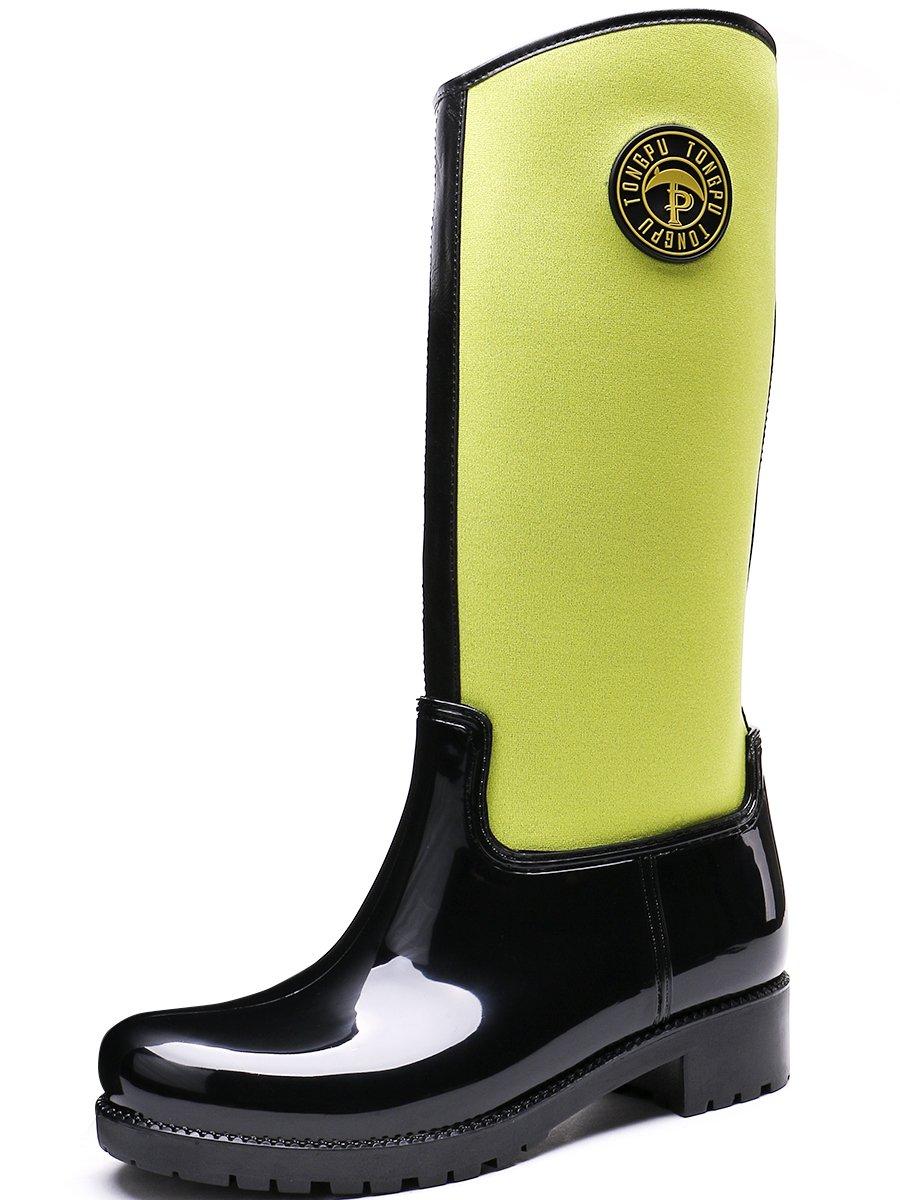 TONGPU - Botas de Material Sintético para mujer39 1/3 negro-amarillo