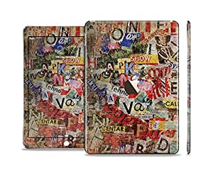 The Torn Newspaper Letter Collage V2 Sectioned Skin Set for the Apple iPad Air 2