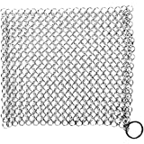 Utopia Kitchen Stainless-Steel Chainmail Scrubber for Cast-Iron Cleaner, Skillet, Pan, Griddle and Wok