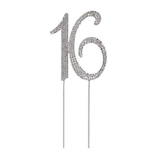 STOBOK Numero 16 Topper Tarta Decoracion para Tartas ...