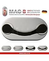 MAG-B clip porte lunettes magnétique (acier inoxydable noir)