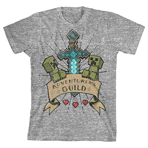 Minecraft Aventurer's Guild Big Boys Youth T-Shirt Licensed