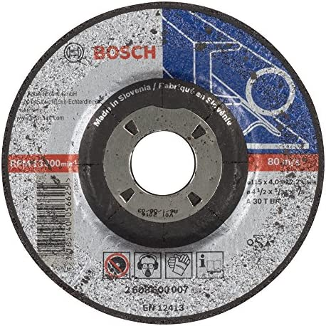 Bosch Professional 2608600007 Schleifzubehör Schruppsch.115 x 4  mm F.Stahl