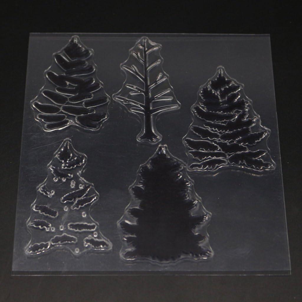 Mentin Forme darbre Tampon en Silicone Transparent pour Un Album de DIY Scrapbooking Photo Card Decor