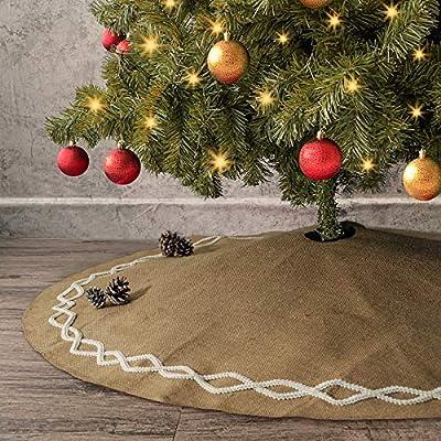 Ivenf - Falda de Yute Natural Grande de 122 cm para árbol de ...