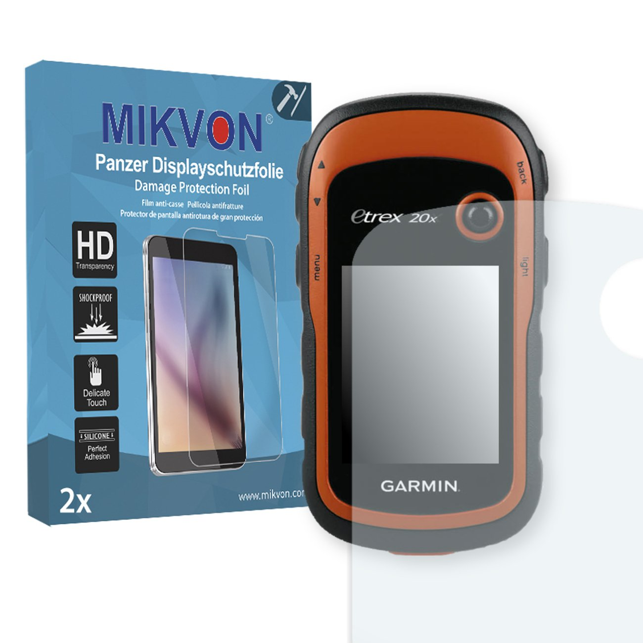 2X Mikvon Armor Screen Protector for Garmin eTrex 20x Screen Fracture Protection Film - Retail Package with Accessories MP296731