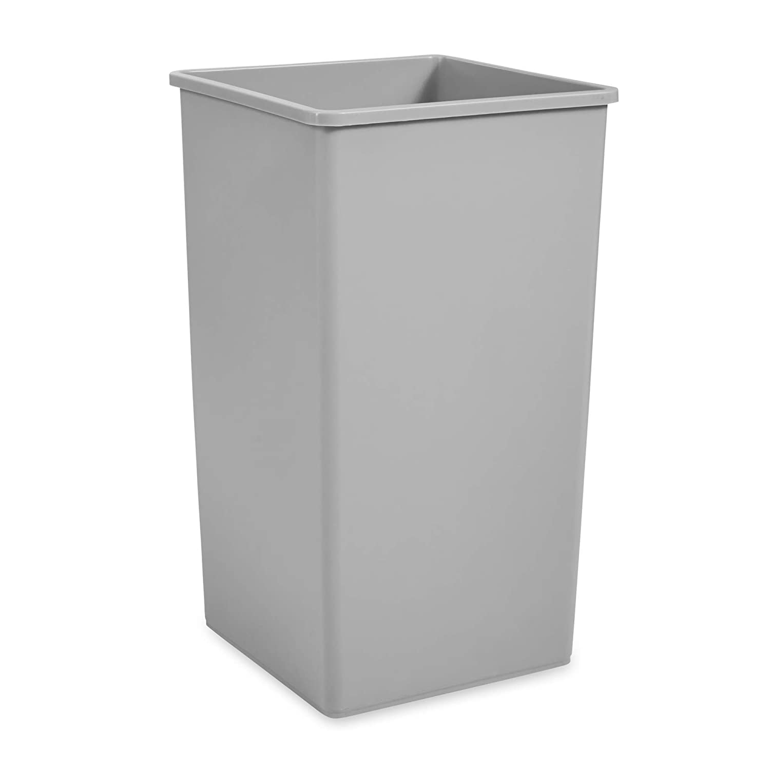 Rubbermaid Commercial Square 50-Gallon Untouchable Trash Can, Gray (FG395800GRAY)