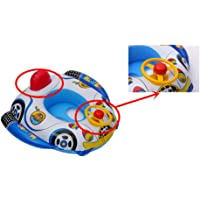 Anel flutuante inflável para bebês Lovsylvia com toldo para sombra de sol, flutuador de piscina infantil com airbags…