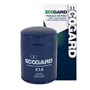 ECOGARD X1A Spin-On Engine Oil Filter for Conventional Oil - Premium Replacement Fits Ford F-150, Explorer, Ranger, Mustang, F-250, F-350, E-150 Econoline, Bronco, Explorer Sport Trac