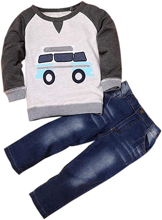Kids Toddler Baby Boy Halloween Outfits Clothes Hoodies Tops Pants  Costumes 2-7