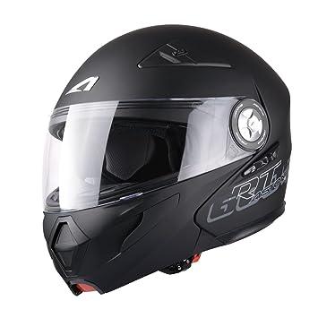 Casco moto scooter policarbonato modular Astone RT600 apertura 59 negro mate