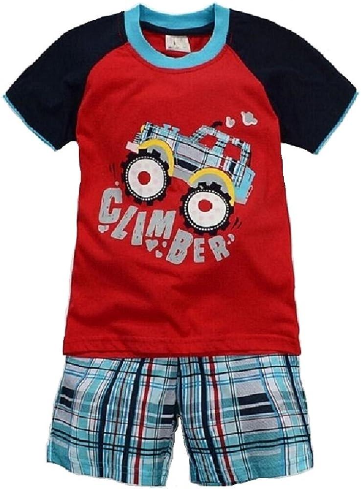Hooyi Baby Boy Sleepwear Cotton Short Sleeve Jeep Car Pajamas Set