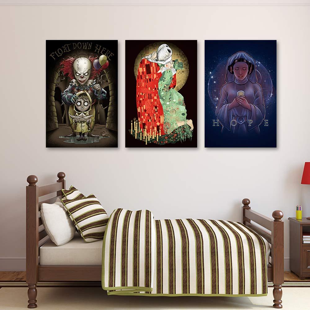 carowall CAROWALL.COM Metal sign animal Photo Decoration for living room Blue 8x12 inches