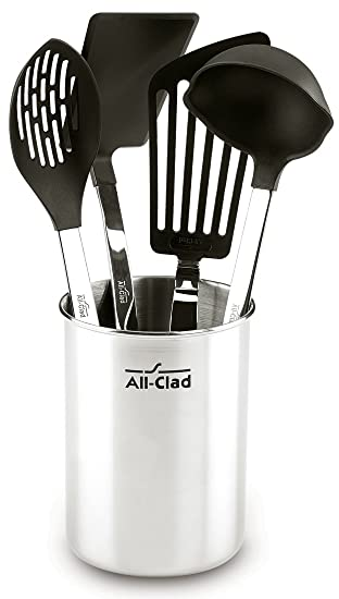 All Clad K040S564 Stainless Steel Non Stick Kitchen Tool Set, 5 Piece