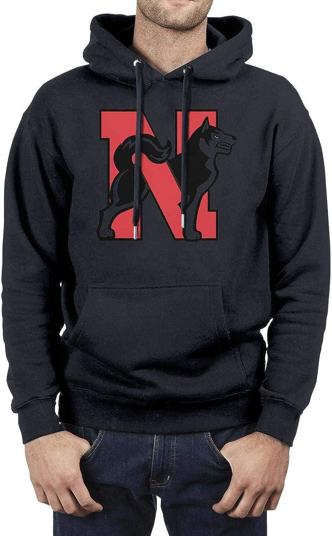 Blend Fleece Mens Pullover Hoodie Sweatshirt Kangaroo Pocket Northeastern-University-Huskies-Logo