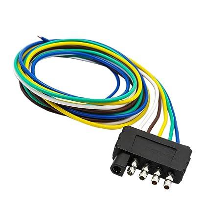 amazon com jili online 5 pin trailer flat plug 960mm wiring harness rh amazon com 5 Pin Trailer Light Tester 4 pin 5 wire trailer harness