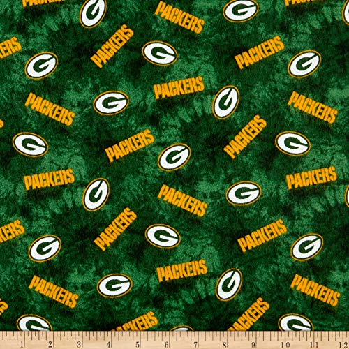 Traditions NFL Flannel Bay Packers Green, Fabric by the - Fabric Flannel Licensed