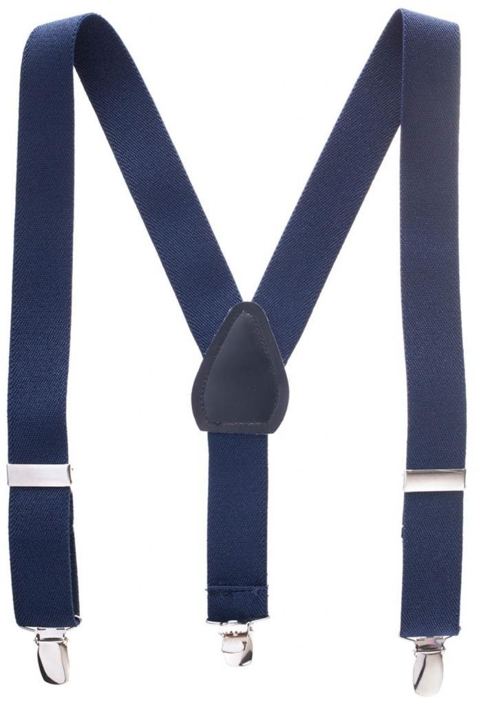 Suspenders for Kids - 1 Inch Suspender Perfect for Tuxedo - Navy Blue (Size 26'')