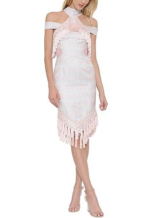 Geegeebae Latiste Womens Pink Satin Chocker Dress With