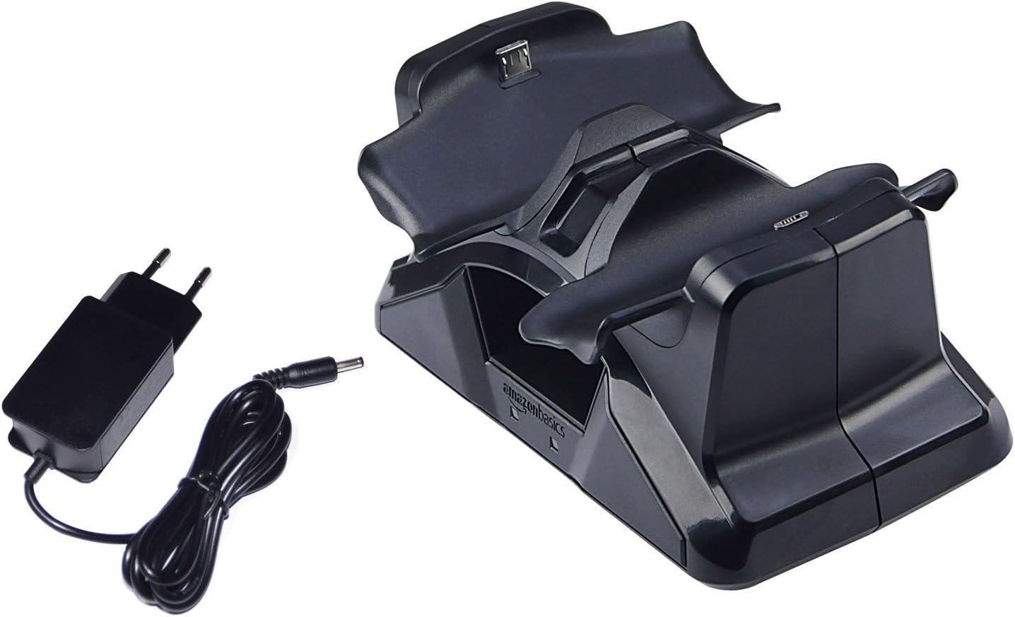 AmazonBasics - Estación de carga para los mandos de la PlayStation 4 DualShock 4: Amazon.es: Videojuegos