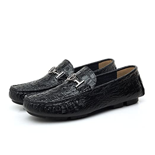 Men's Croco-Embossed Leather Business Shoes Boat Shoes Driving Shoes Slip-ons Moccasins Loafers