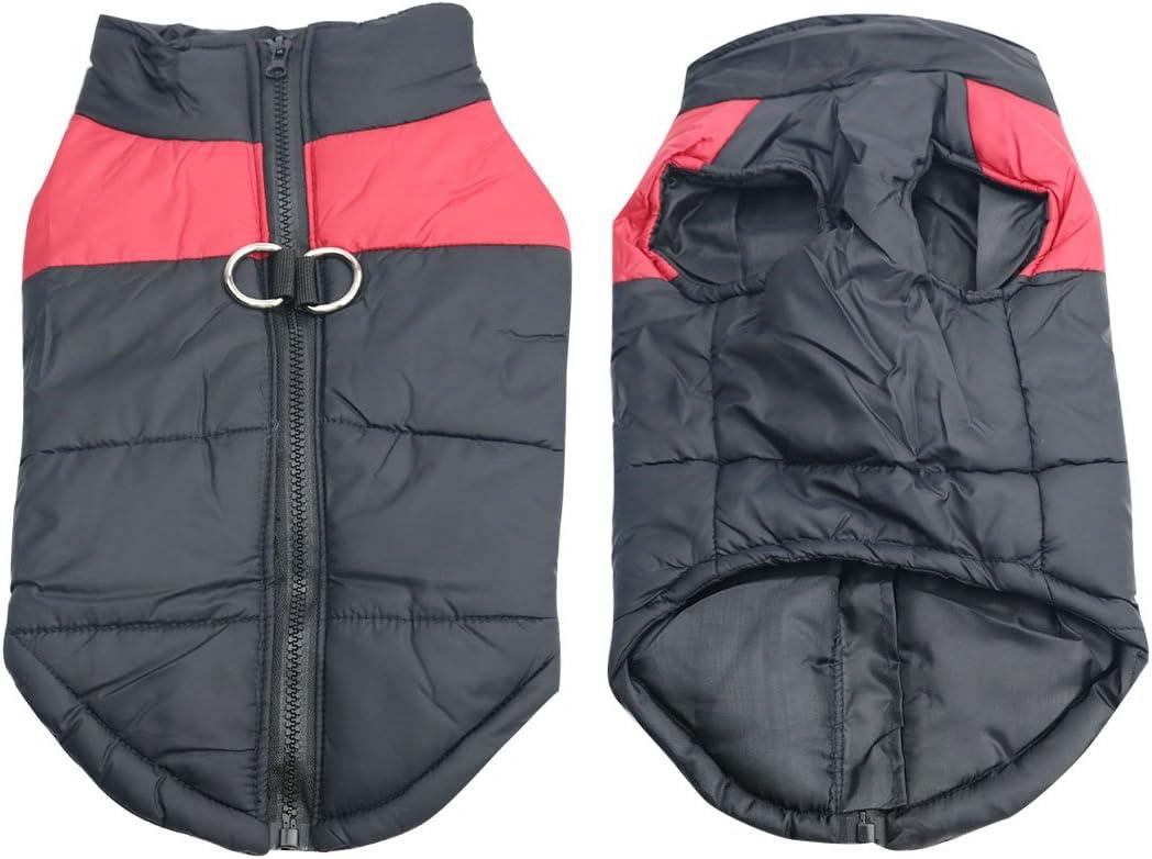 Idepet Haustier Hund Warm Mantel Jacke Wasserdichte Kleidung Kleine mittlere gro/ße Haustier Hund Katze Bekleidung Bekleidung Fr/ühling Herbst Winter