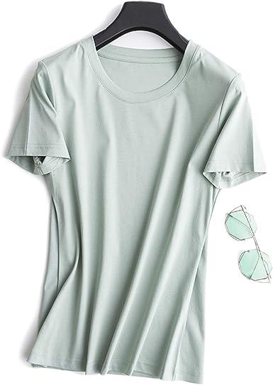 Camiseta básica de algodón Mercerizado de Doble Cara con Todo ...