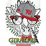 Giraffe Coloring Books for Adults: Relaxing Coloring Book For Grownups