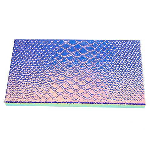 Large Empty Eyeshadow Makeup Box Magnetic Cosmetics Palette Eye Shadow Fish Scale DIY Storage Tray Box Holder, 18101cm