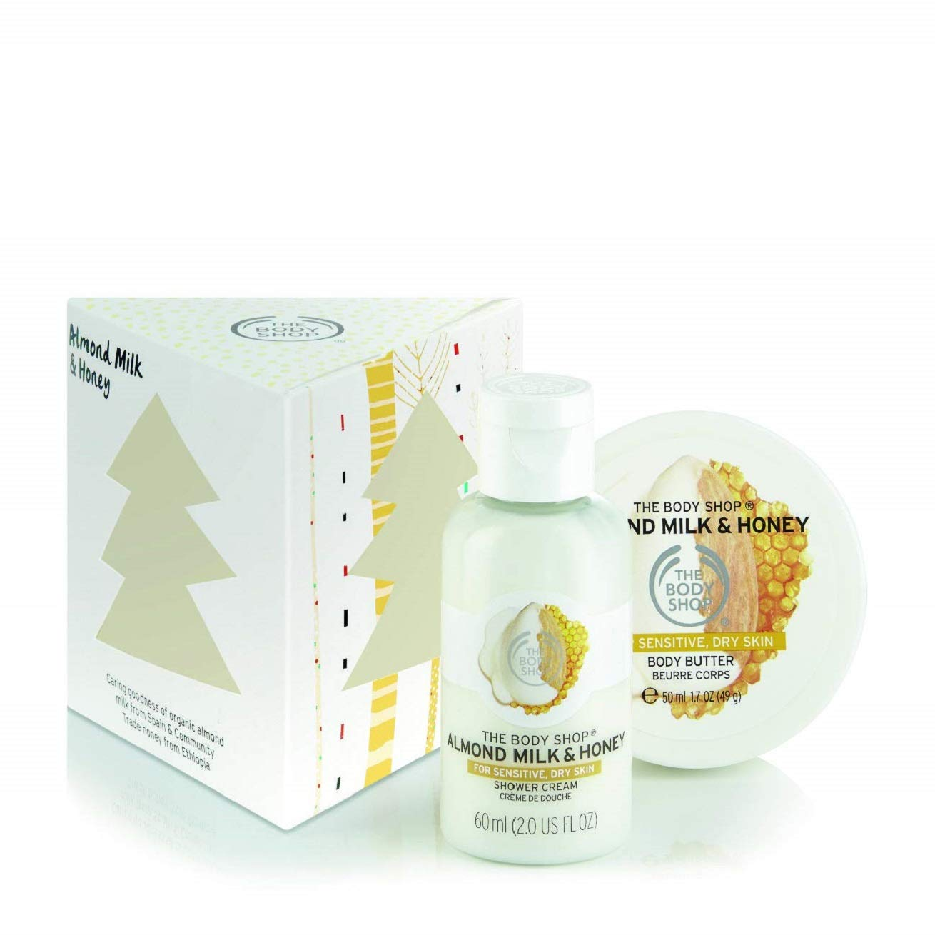 Christmas Gift Sets Body Shop.Details About The Body Shop Almond Milk And Honey Treats Cube Gift Set For Woman Love