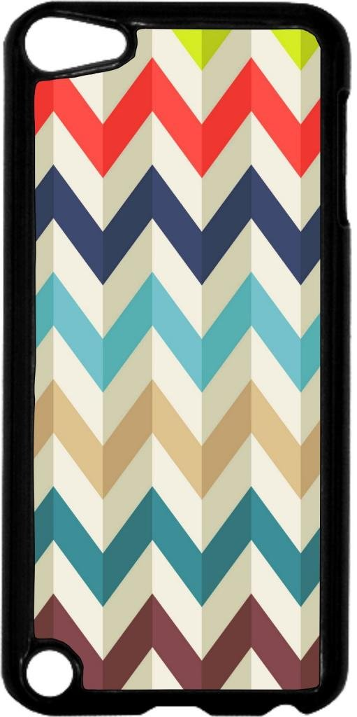 Waved Chevron Pattern- Case for the Apple Ipod 5th Generation-Hard Black Plastic
