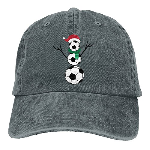(Arsmt Soccer Snowman Denim Hat Adjustable Unisex Low Baseball Hats)