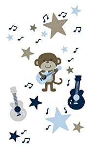 Carter's Wall Decals, Monkey Rockstar (Discontinued by Manufacturer)