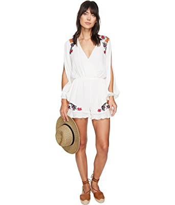 01d538e38659 Amazon.com  Lovers + Friends Women s Adriana Romper Ivory Jumpsuit ...