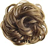 Beauty Wig World Scrunchie Bun Up Do Hair piece Hair Ribbon Ponytail Extensions Wavy Curly or Messy Various Colors#9H19 Brown/Blonde