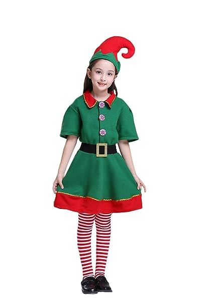 Okwin Disfraz de Elfo Unisexo Adultos Niños Disfraz de Duende de ...