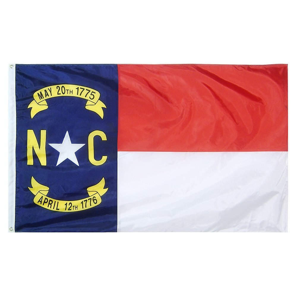 9850a32ab1ac Amazon.com   US Flag with North Carolina State Flag 3 x 5 - 100% American  Made - Nylon   Garden   Outdoor