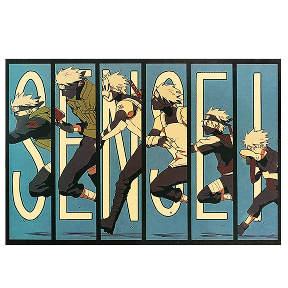 Amazon com: Auxsoul Naruto Poster, Japanese Anime Characters