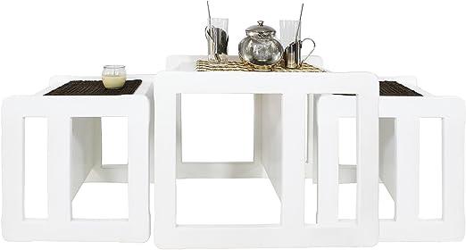 Obique 3 en 1 Nido Multifuncional de 3 Mesas de Café para Adultos ...