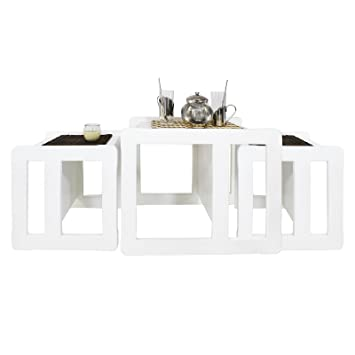 Obique 3 In 1 Adults Multifunctional Nest Of Coffee Tables Set Of 3