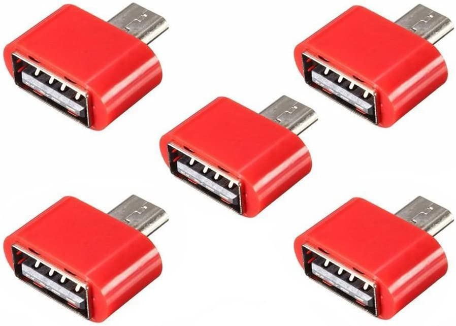 Cable Length: 0.2m Cables 5pcs New Micro-USB Male to USB 2.0 Female Mini Adapter OTG Converter for Android