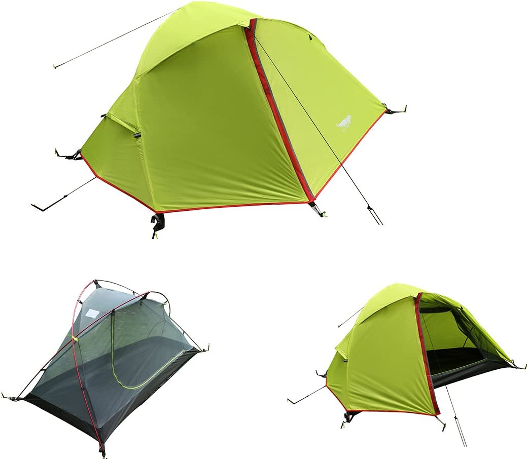 Luxe Tempo 3.3LB 1 Person Backpacking Tent Solo with Free Footprint Minimalist Pitch Option