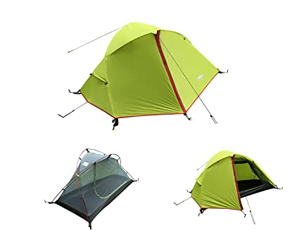 Luxe Tempo 3.3LB 1 Person Backpacking Tent Solo with Free Footprint Minimalist Pitch Option  sc 1 st  Amazon.com & Amazon.com : Luxe Tempo 3.3LB 1 Person Backpacking Tent Solo with ...