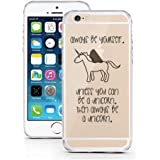 iPhone 5 5S SE Case by licaso® for the iPhone 5 5S SE TPU Case Be a Unicorn Horse Fairy Tale Clear Protective Cover iphone5 Mobile Phone Sleeve Bumper (Be a Unicorn)