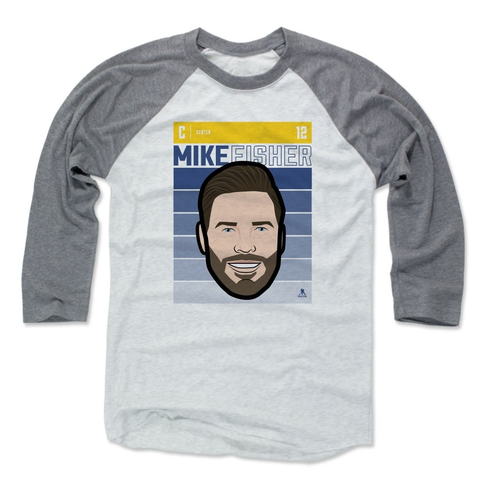 timeless design 2a899 498be Amazon.com : 500 LEVEL Mike Fisher Baseball Tee Shirt ...