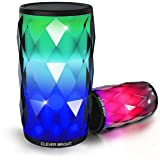 Bluetooth speakers LED Touch Control Colorful Portable Night Light Portable Wireless Bluetooth Speaker Built-in Mic, AUX and Hands Free Speaker for Home and Outdoor Party / Beach / Picnic (Black)