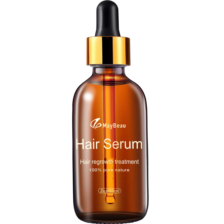 Hair Growth Oil MayBeau Hair Growth Treatment for Women Men With Thinning Hair Loss Serum for Healthier, Thicker, Longer Hair by MayBeau
