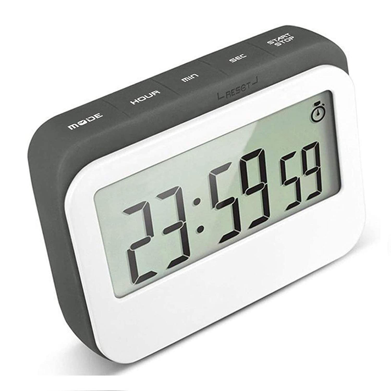 VPAL Digital Kitchen Timer 12 / 24 Hours Alarm Clock with Magnetic Back and Retractable Stand, Large LCD Display